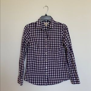J.CREW Purple and White Button Down Shirt